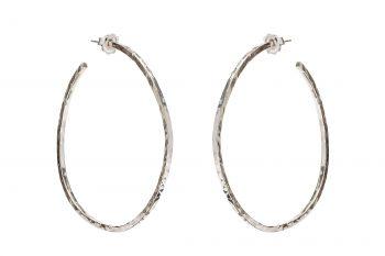 ba20c15d8 Hammered Silver Hoops - Rachel Jeffrey