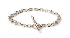 Bamboo silver bracelet