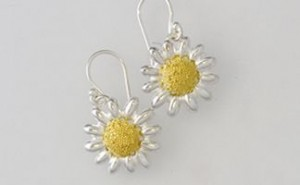 Daisy Silver Gold Large Drops