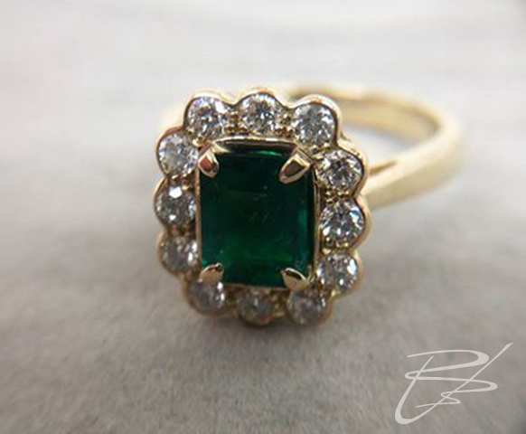 Original emerald engagement ring