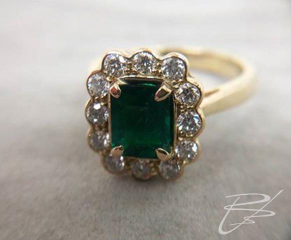 Original emerald engagement ring