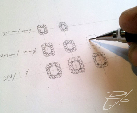 Earring design sketches
