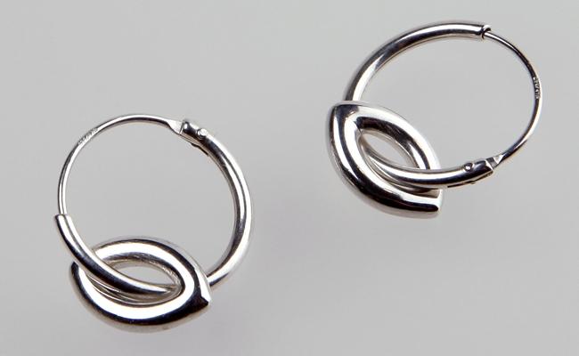 f90ebfe8c Ellipse Hoops silver drop earrings