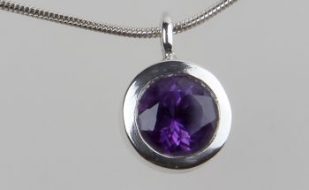 Husk with Faceted Amethyst