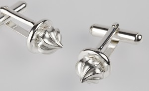 Silver Iced Gem Cufflinks