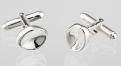 Pinch twist back cufflinks