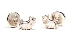 Scottie dog cufflinks