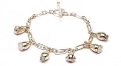 Seed charm bracelet