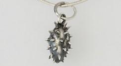 Oxidised silver Spike pendant.