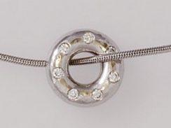 Vortex white with diamonds