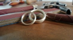 Wedding ring making - bride & groom