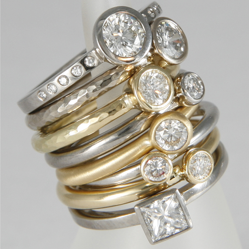 Diamond Ring Stack