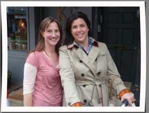 Rachel and Kirstie outside the Vintage Home shop used for filming.