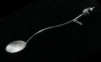 silver acorn spoon